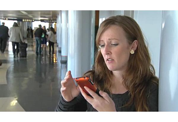 Gwen at airport