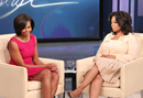 First Lady Michelle Obama Visits Harpo Studios