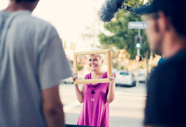 "Participant at ""Framed"" shoot"