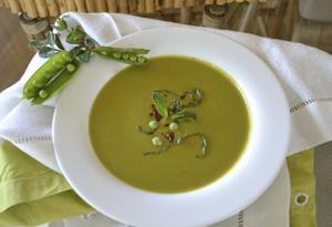 Cristina Ferrare's Creamy, Cool Spring Pea Soup