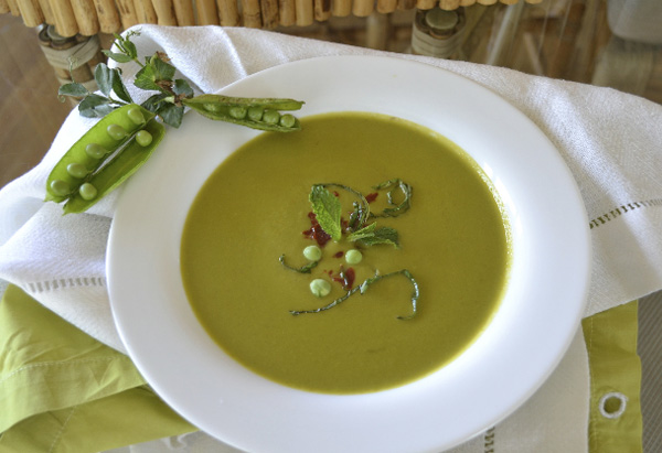 Creamy, Cool Spring Pea Soup