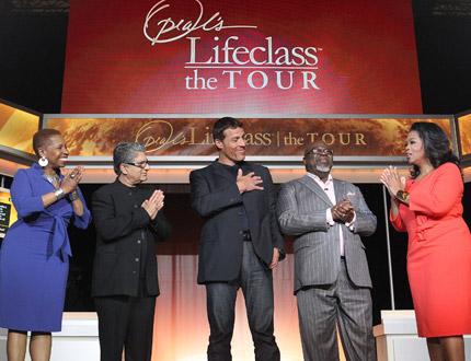 Deepak Chopra, Bishop T.D. Jakes, Tony Robbins and Iyanla Vanzant and Oprah