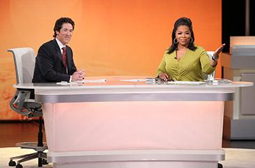 Oprah Winfrey and Joel Osteen