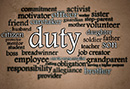 "What does ""duty"" mean to you?"