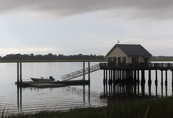 Dock near Paula Deen's home