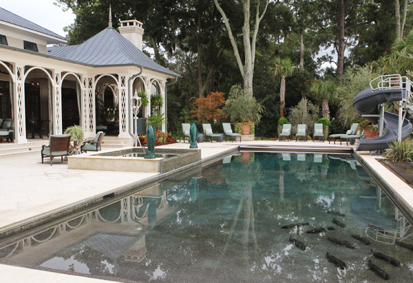 Paula Deen's swimming pool