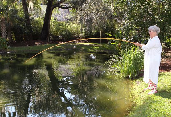 Paula Deen fishing