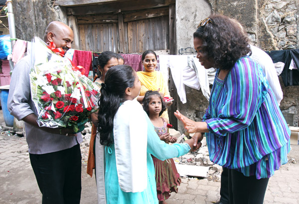 The Hegde family welcomes Oprah to Mumbai's Colaba neighborhood