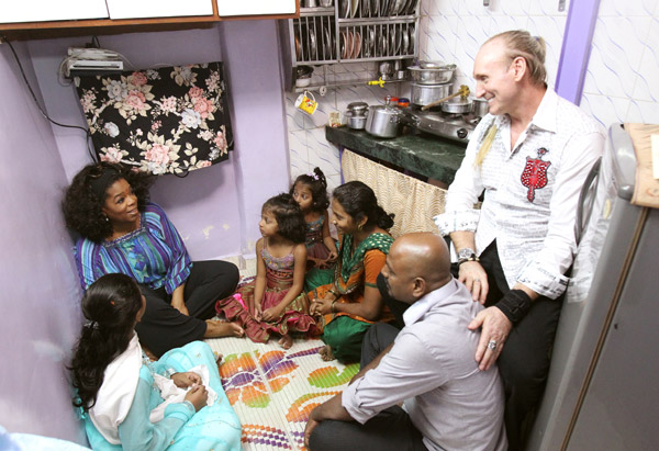 Oprah visits the Hegde family in Mumbai