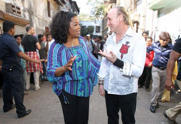 Author Gregory David Roberts and Oprah Winfrey