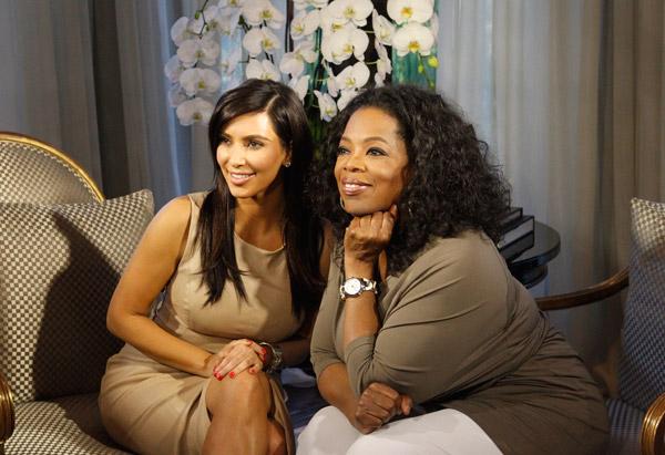 Oprah Winfrey and Kim Kardashian