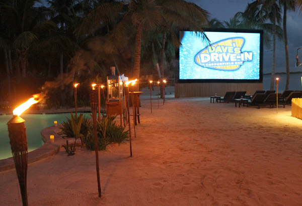 Dave's Drive-In Copperfield Bay outdoor movie theater