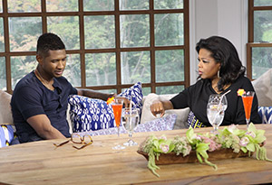 Usher and Oprah Winfrey