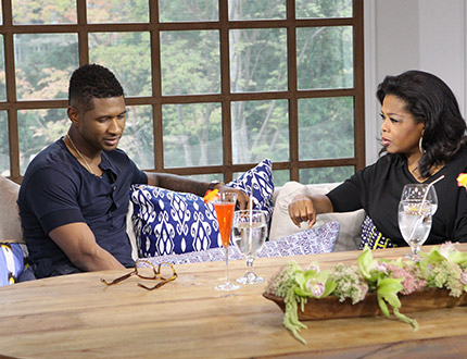 Usher with Oprah Winfrey