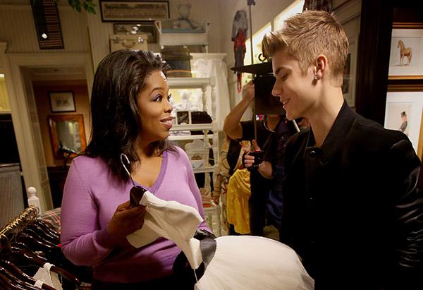 Justin Bieber and Oprah Winfrey
