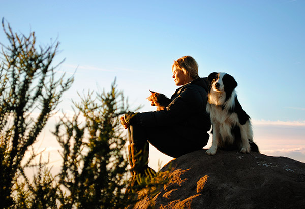 Mariel Hemingway and her dog
