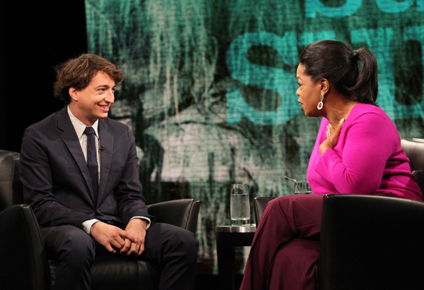 Benh Zeitlin and Oprah Winfrey