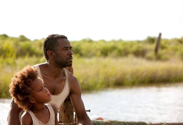 Dwight Henry and Quvenzhane Wallis in Beasts of the Southern Wild