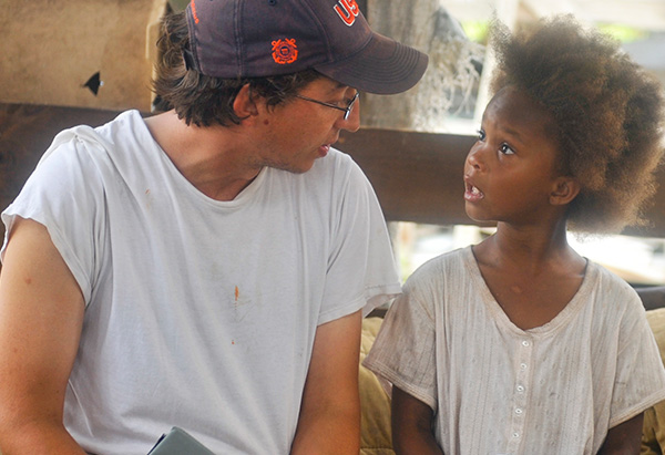 Benh Zeitlin and Quvenzhane Wallis from Beasts of the Southern Wild