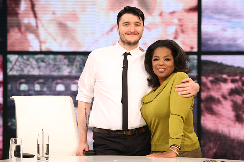 Oprah Winfrey and Mastin Kipp