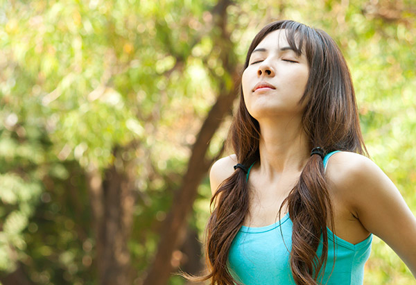 Notice your breath move in and out of your body.