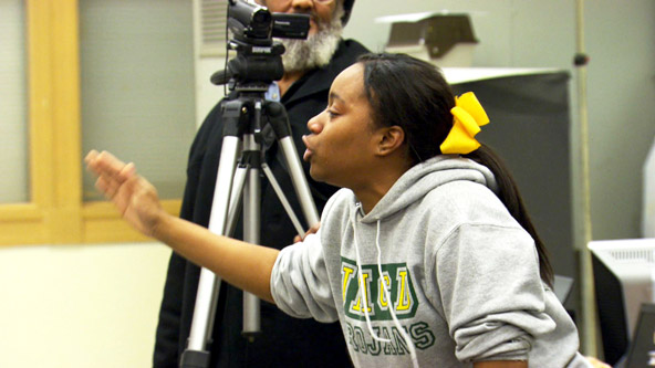 Students Face Opposition at Community Board Meeting Video