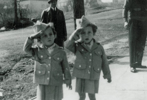 Terry and Josie saluting