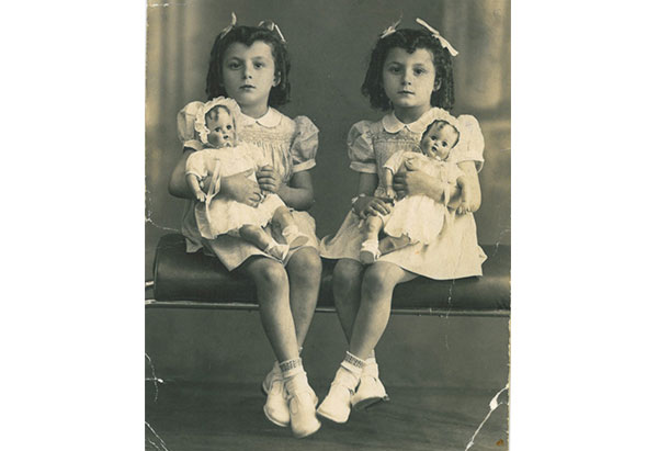 Josie and Terry with dolls