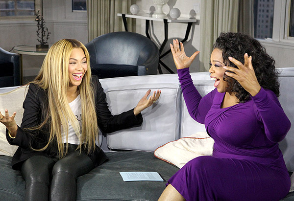 Oprah Winfrey and Beyonce