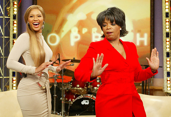 Oprah Winfrey and Beyonce