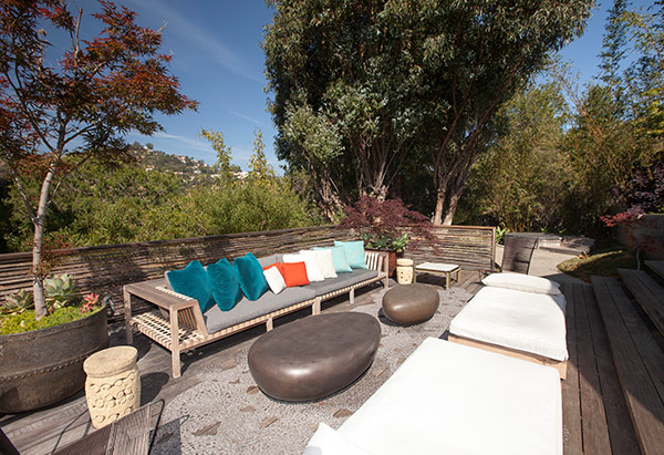 John Legend's outdoor sitting area at his Hollywood Hills home