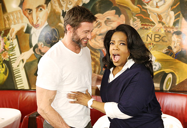 Hugh Jackman and Oprah Winfrey