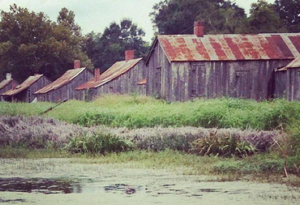 Oprah Winfrey's Instagram photo of plantation cabins in Louisiana