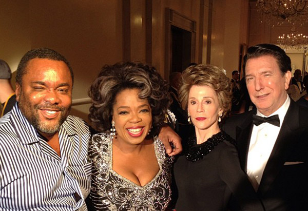 Lee Daniels, Oprah Winfrey, Jane Fonda and Alan Rickman