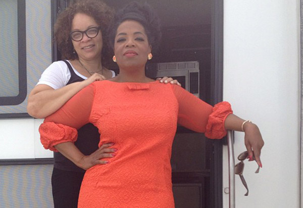 Costume designer Ruth Carter and Oprah Winfrey