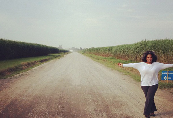 Oprah's Instagram photo of Thibodaux, Louisiana