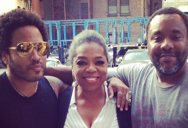 Lenny Kravitz, Oprah Winfrey and Lee Daniels