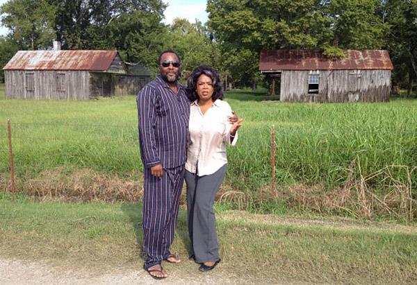 Lee Daniels and Oprah Winfrey in Louisiana
