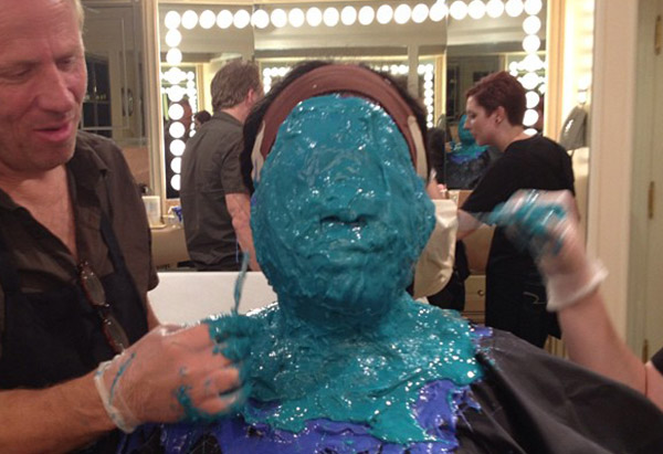 "Oprah Winfrey getting a silicon face cast made while filming ""Lee Daniels' The Butler"""