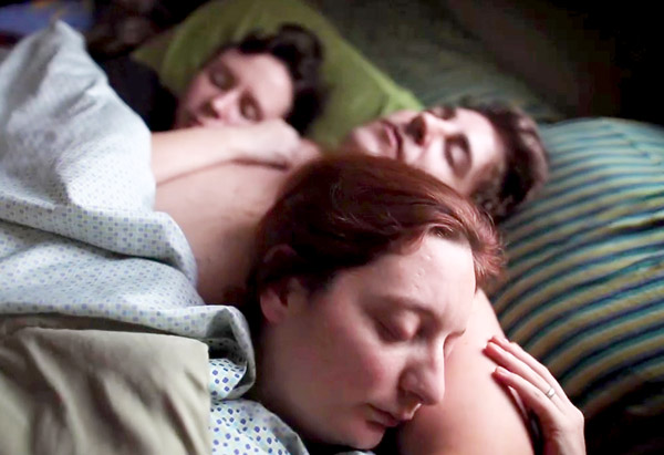 Polyamory, 3 people in bed