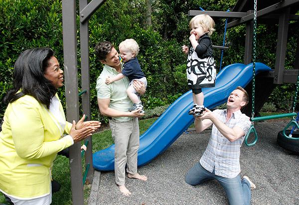 Oprah Winfrey with Neil Patrick Harris and David Burtka's family