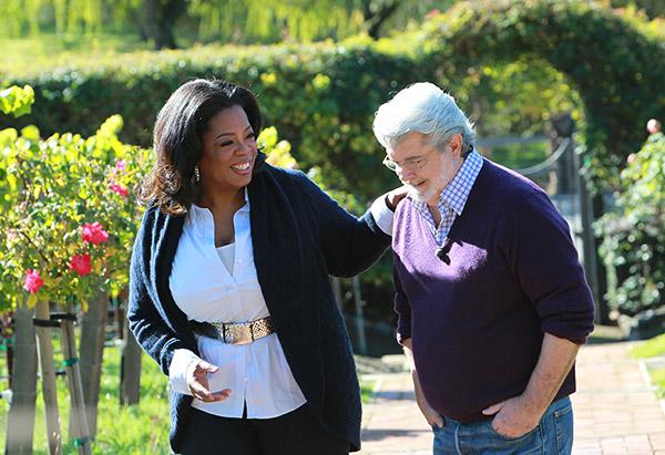 Oprah Winfrey and George Lucas