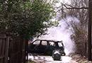 Car Fire Endangers Community