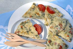 Tarragon, Tomato and Mostly Egg White Frittata