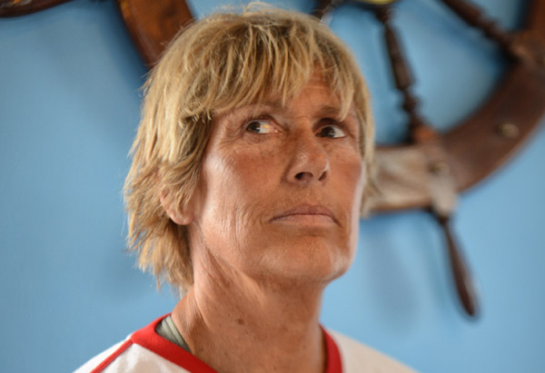 Long-distance swimmer Diana Nyad