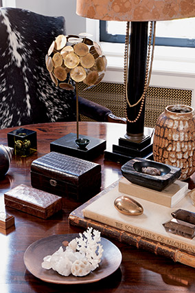 Collection of objects on a table