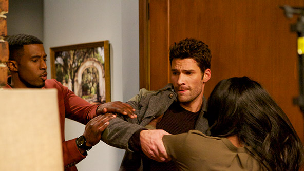 Gavin Houston, Aaron O'Connell and Tika Sumpter