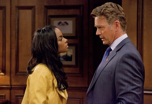 Tika Sumpter and John Schneider