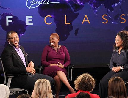 Tyler Perry, Iyanla Vanzant and Oprah Winfrey