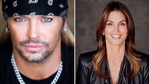 Bret Michaels and Cindy Crawford